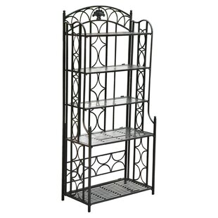 Saundra Wrought Iron Baker's Rack by Fleur De Lis Living Sale