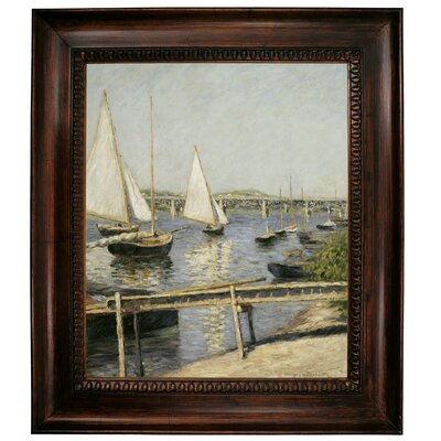 Sailing Boats At Argenteuil 1888 Framed Graphic Art Print