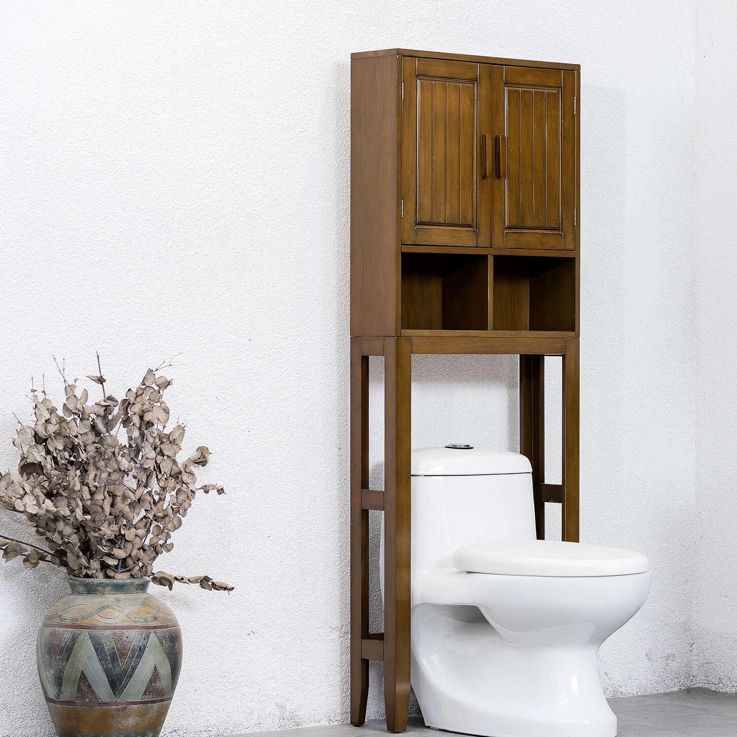 Millwood Pines Paxton E Saver 22 W X 62 H Over The Toilet Storage Reviews Wayfair