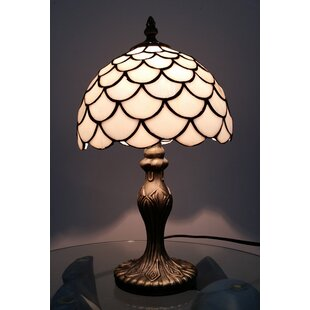 Stainless steel table lamps wayfair lincoln tiffany 35cm table lamp aloadofball Choice Image