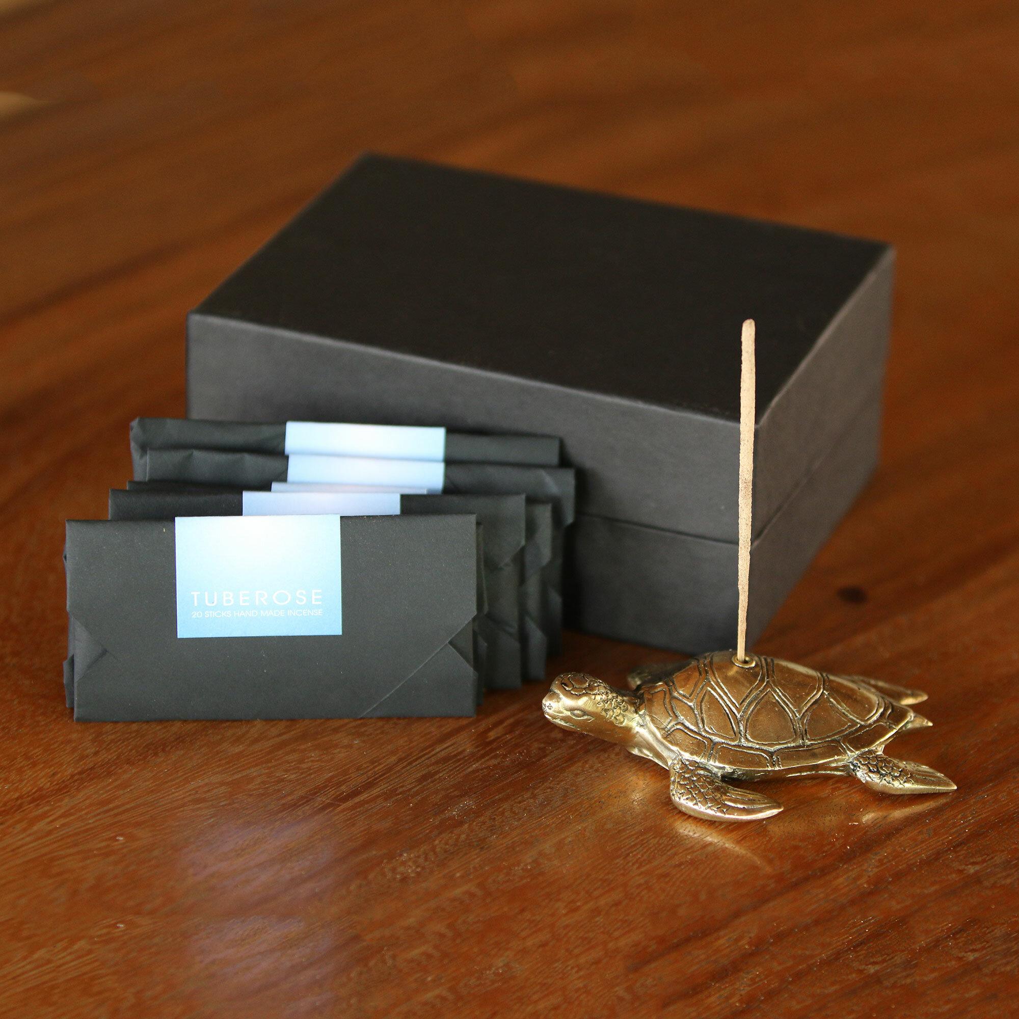 World Menagerie Hardrian Ocean Fragrance Incense Holder And Stick Set Wayfair