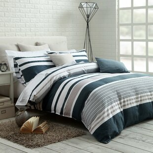 Ebern Designs Dilworth Cotton Reversible Duvet Set
