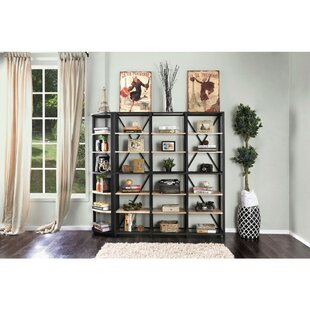 Rowles Spacious 6 Tier Metal Etagere Bookcase