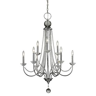 House of Hampton Patrice 9-Light Candle Style Chandelier
