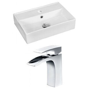 Reviews Ceramic 20 Bathroom Sink with Faucet and Overflow ByRoyal Purple Bath Kitchen