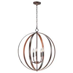 Wrought Studio Mielke 5-Light Globe Pendent