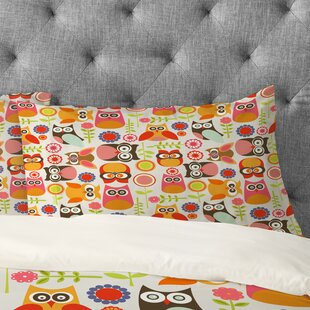 Valentina Ramos Cute Little Owls Pillowcase by Deny Designs Design