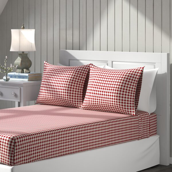 Red Gingham Sheets Wayfair
