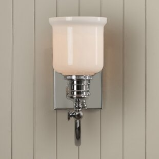 Best Price Mullings 1-Light Armed Sconce By Beachcrest Home