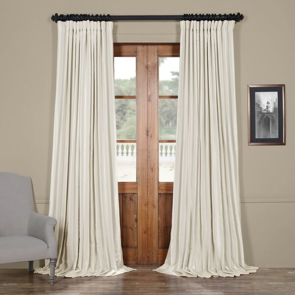 House Of Hampton Bahari Textured Faux Silk Extra Wide Blackout Single Curtain Panel & Reviews by House Of Hampton