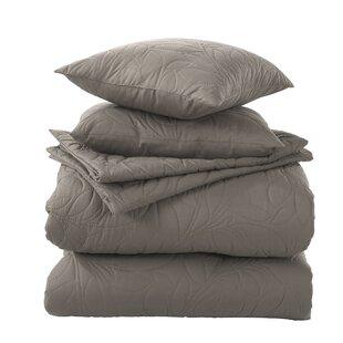Winston Porter Hargett 5 Piece Embossed Comforter Set