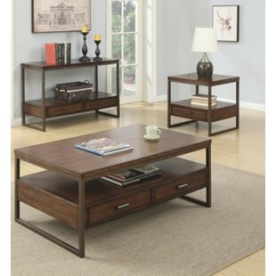 Laurel 3 Piece Coffee Table Set