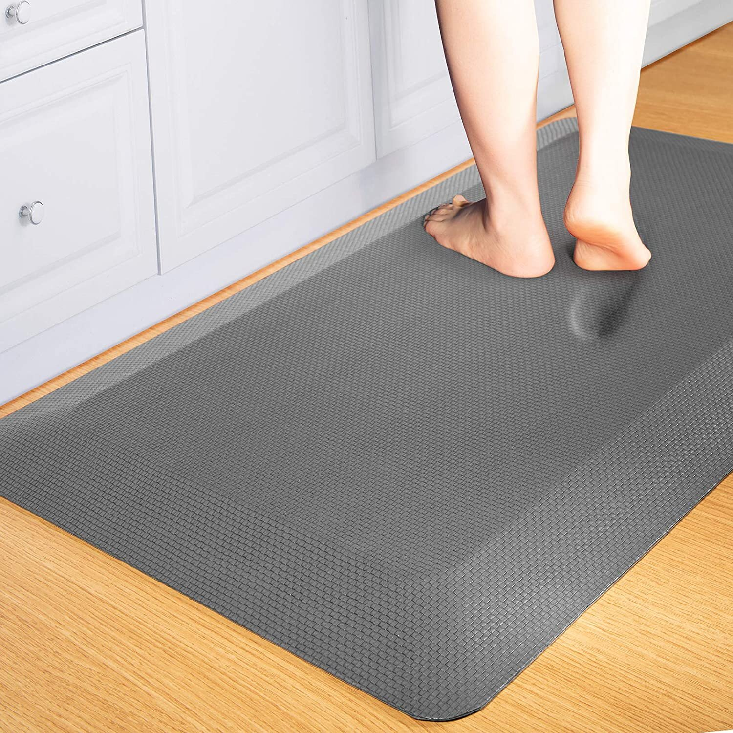 Anti Fatigue Mat Kitchen Mats Cushioned,Thicken Core Foam  9X9x9/9 Inch,Perfect For Kitchens,Standing Desks And Garages,Phthalate  Free,Relieves ...