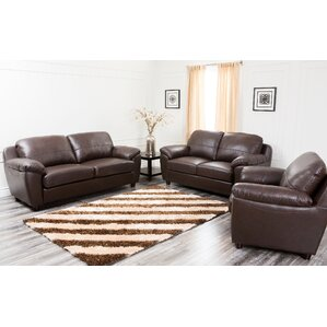 Bartholomew 3 Piece Leather Living Room Set Part 49