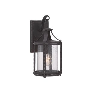 Coupon Halcott 1-Light Outdoor Wall Lantern By Laurel Foundry Modern Farmhouse