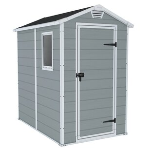 Manor 4 Ft. W X 6 Ft. D Apex Plastic Tool Shed By Keter
