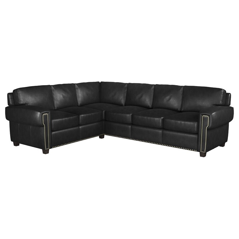 Westland And Birch Sioux 119 Genuine Leather Sectional Wayfair