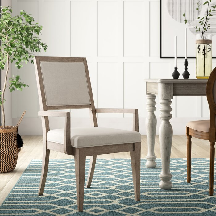 Amina Upholstered Arm Chair in White