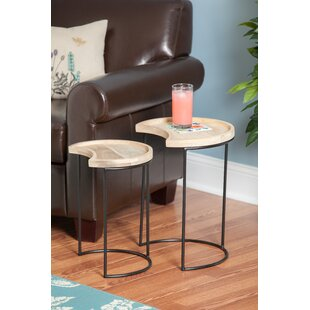 Avalos Iron/Wood 2 Piece End Tables