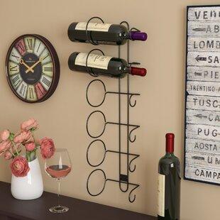 Phillip 6 Bottle Wall Mounted Wine Rack b..