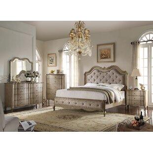 One Allium Way Aubree Upholstered Configurable Bedroom Set