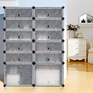 Rebrilliant 12 Pair Shoe Storage Cabinet