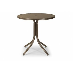 Check Out Aluminum Slat 36 inch  Round Bar Table Best Price