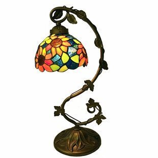 Check Prices Keck Sunflower Tiffany 21 Table Lamp By August Grove