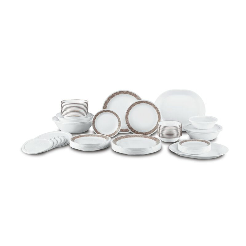 Sand Sketch Living Ware 74 Piece Dinnerware Set Service for 12  sc 1 st  Wayfair & Corelle Sand Sketch Living Ware 74 Piece Dinnerware Set Service for ...