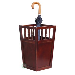 Alcott Hill Wood Umbrella Holder