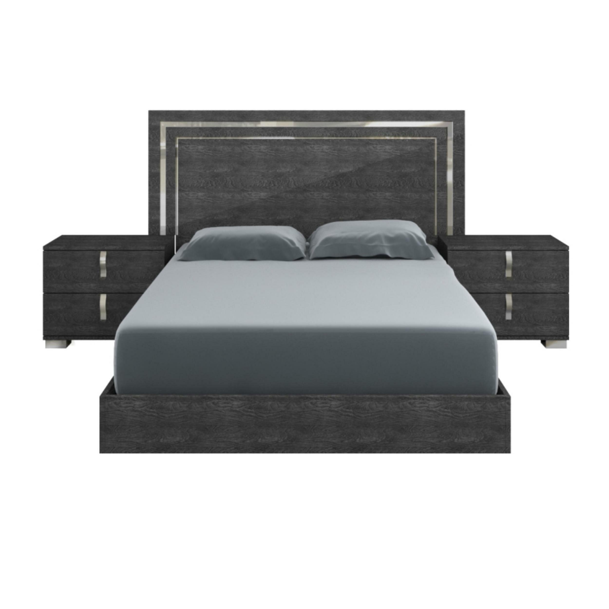 Orren Ellis Winfield High Gloss Platform Bed Wayfair