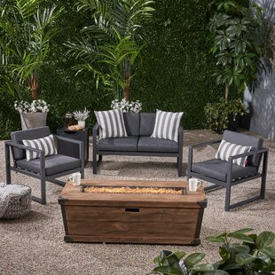 Jadyn 4 Piece Set Sofa Seating Group with Cushions by 17 Stories