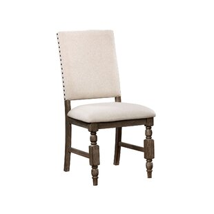 Krupa Rustic Upholstered Dining Chair (Set of 2) by Ophelia & Co.