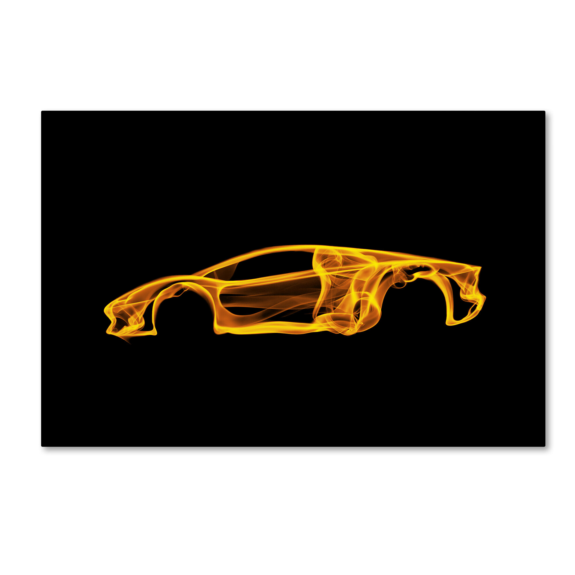 Trademark Art Lamborghini Aventador Graphic Art Print On Wrapped Canvas