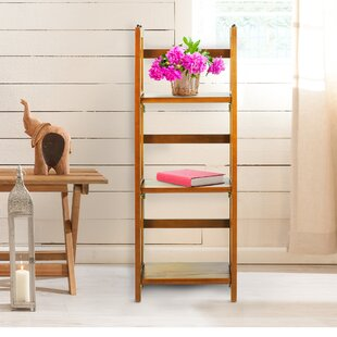 Casual Home 3 Shelf Folding Stackable Standard Bookcase
