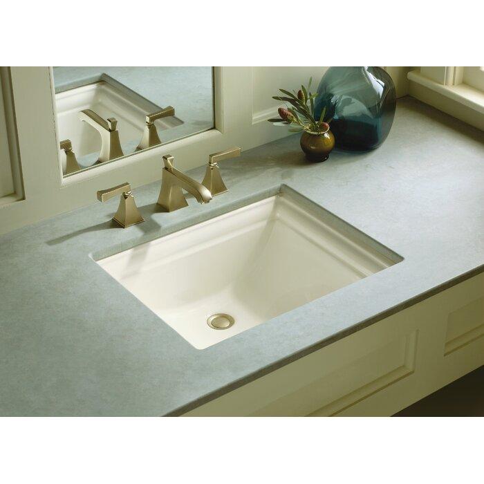Kohler Memoirs Vitreous China Rectangular Undermount Bathroom Sink ...