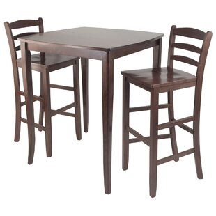 Merkley 3 Piece Counter Height Pub Table Set