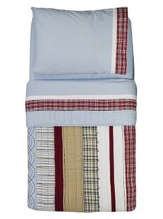 Boys Stripes and Plaids 4 Piece Toddler Bedding Set byBacati