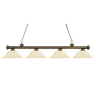 Zephyr 4-Light Incandescent Billiard Light with Hanging Chain by Red Barrel Studio