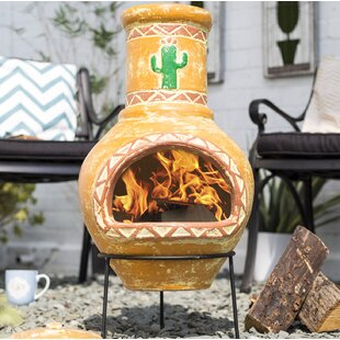 Bernardo Clay Wood Burning Chiminea By Sol 72 Outdoor