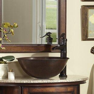 Sinkology Eddington Metal Circular Vessel Bathroom Sink
