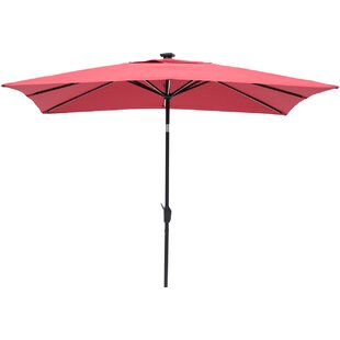 Irene 9' X 7' Rectangular Lighted Umbrella