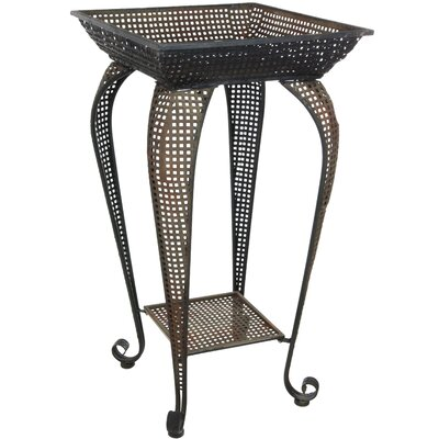 Oriental Furniture Pedestal End Table