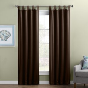 Wayfair Basics Solid Blackout Thermal Tab Top Single Curtain Panel by Wayfair Basics™