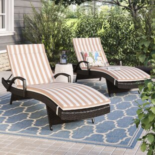 Darby Home Co Roma Outdoor Wicker Armed Lounge with Cushion (Set of 2)