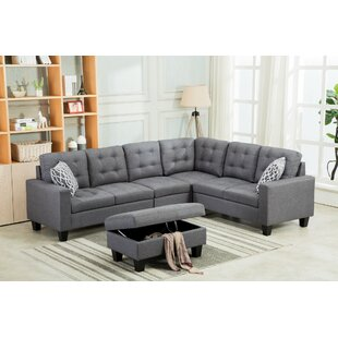 Ridgeway Sectional with Ottoman by Ebern Designs