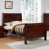 Ivywood Solid Wood Low Profile Sleigh Platform Bed by Alcott Hill®