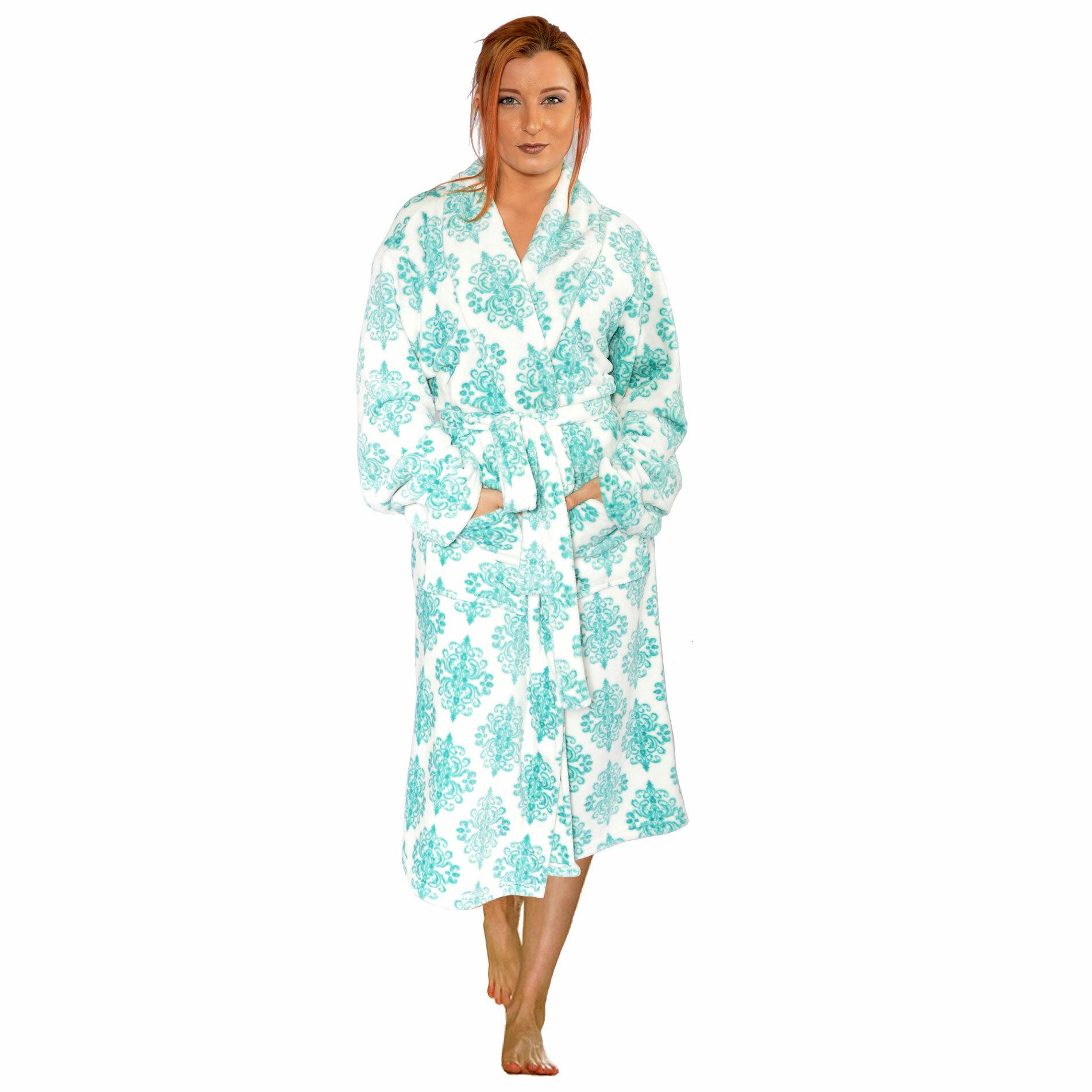 e47f01eb4b Home Soft Things Jules Flannel Fleece Bathrobe