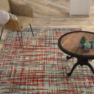 Roisin Abstract Etchings Gray/Red Area Rug By17 Stories