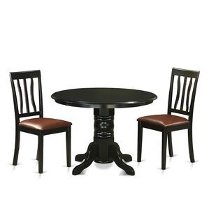 Langwater 3 Piece Pedestal Dining Set by Beachcrest Home